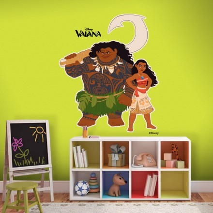 Moana and Maui in action