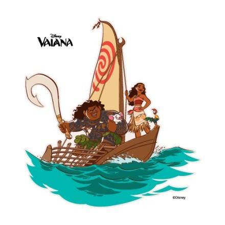 Moana and her friends are sailing
