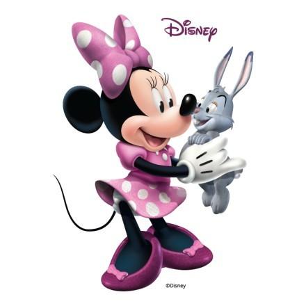Η Minnie με το λαγουδάκι της!