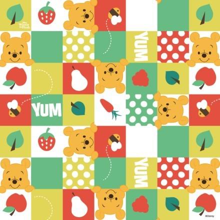 Μοτίβο με το Winnie και φρούτα!