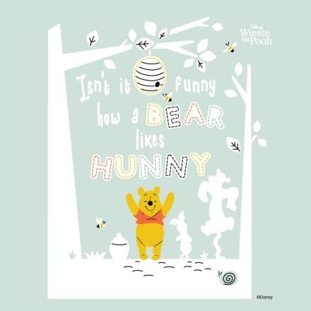 Isn't it funny how a bear likes hunny, Winnie the Pooh