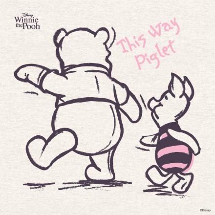 This Way Piglet,Winnie The Pooh