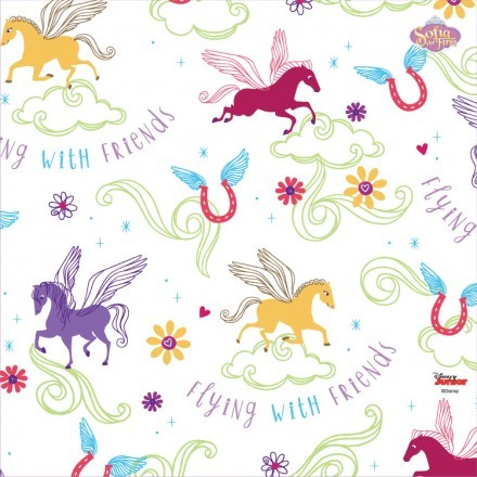 Flying with friends pattern , Sofia the first