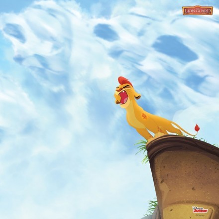 Kion on the top of the mountain, Lion Guard