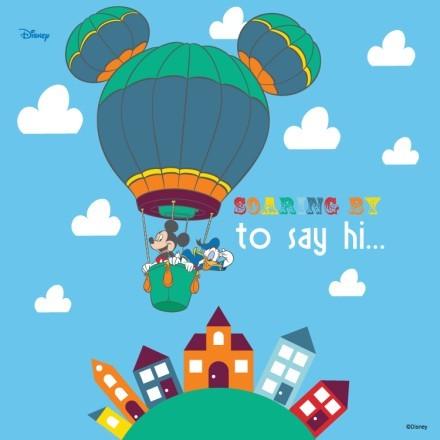 Soaring to say hi, Mickey & Donald!
