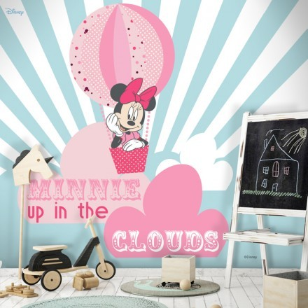 Minnie up in the clouds, Minnie Mouse!