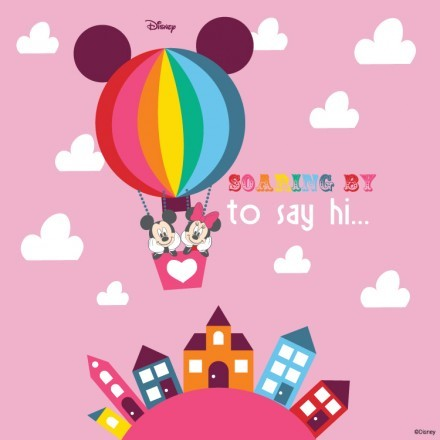 Soaring ti say hi, Mickey Mouse!