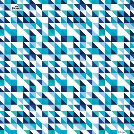 Blue and white pattern, Frozen