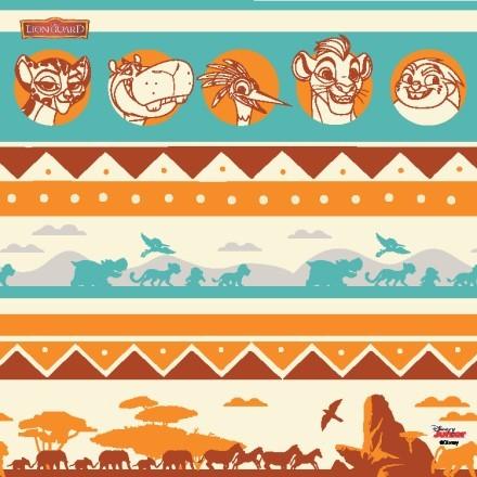 Η φρουρά των λιονταριών, μοτίβο πολύχρωμο