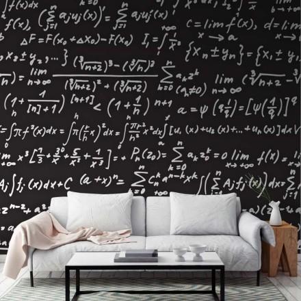 Μαυροπίνακας με μαθηματικά, φόντο