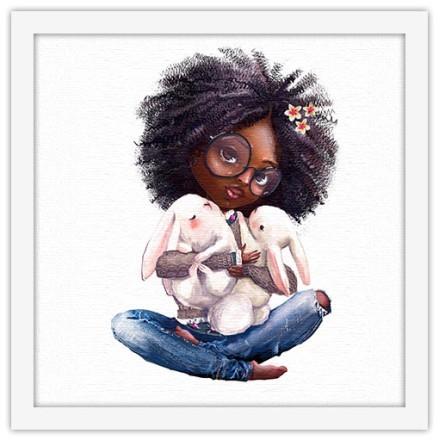 Κορίτσι κρατάει κουνελάκια
