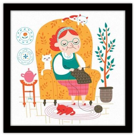 Γιαγιάκα πλέκει