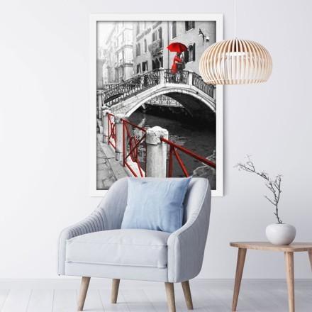 Ρομαντικό Ζευγάρι Πάνω στη Γέφυρα