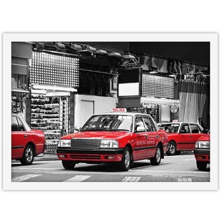 Κόκκινα ταξί στο Χονγκ Κονγκ