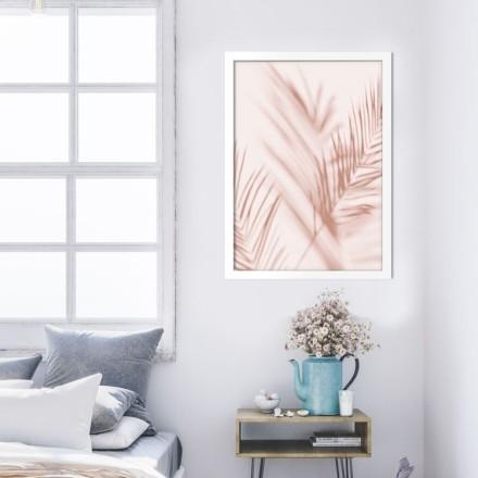 Σκιά φύλλων σε ροζ τοίχο