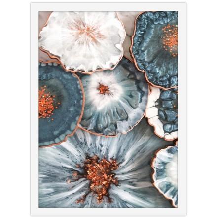 Γαλανόλευκα λουλούδια
