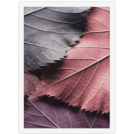 Ροζ & γκρι ξερά φύλλα