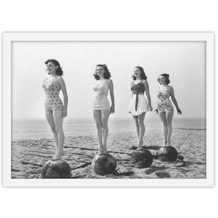 Ασπρόμαυρη Φωτογραφία Κοριτσιών