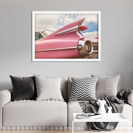 Ροζ ρετρό αμάξι