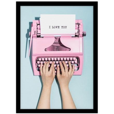 Ροζ γραφομηχανή