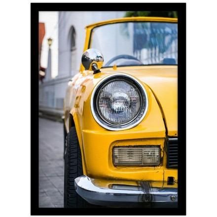 Ρετρό κίτρινο αμάξι