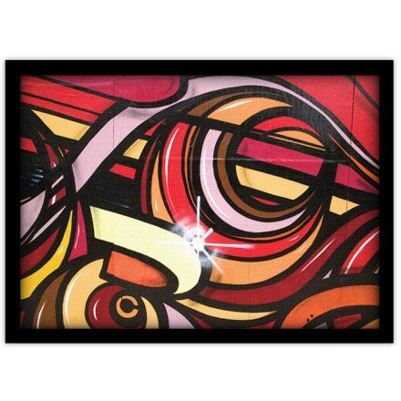 Αφηρημένη τέχνη με έντονα χρώματα