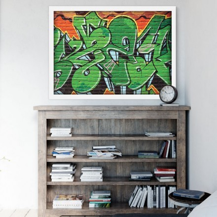 Graffiti πράσινο- πορτοκαλί χρώμα