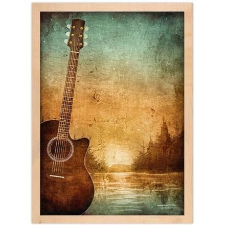 Κιθάρα μπροστά από το ποτάμι
