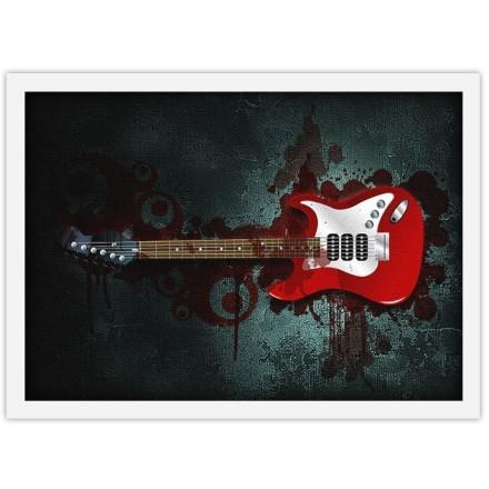 Μοντέρνα κόκκινη κιθάρα