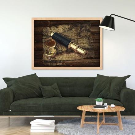 Τηλεσκόπιο, πυξίδα και χάρτης