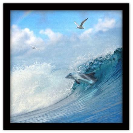 Δελφίνι μέσα στα κύματα