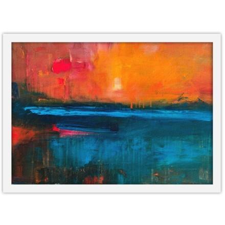 Αφηρημένη ζωγραφιά ηλιοβασίλεμα