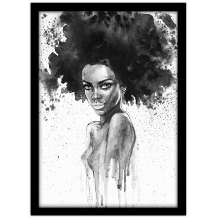 Ασπρόμαυρη ζωγραφιά γυναίκας