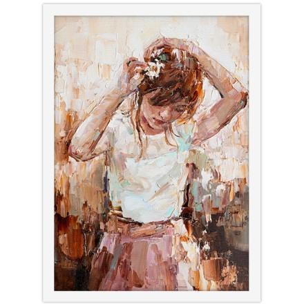 Ελαιογραφία μικρού κοριτσιού
