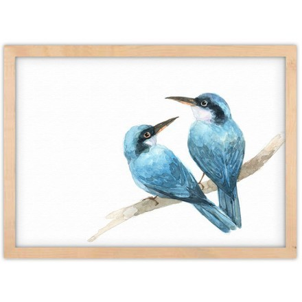 Δύο μπλε χελιδόνια