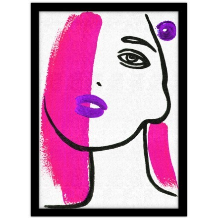 Πορτρέτο γυναίκας σαν ζωγραφιά