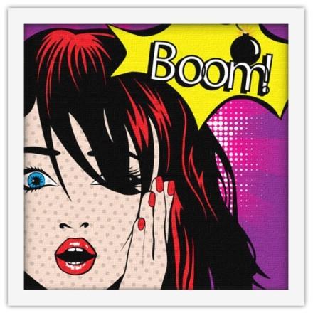 Γυναίκα Pin up ''Boom!''