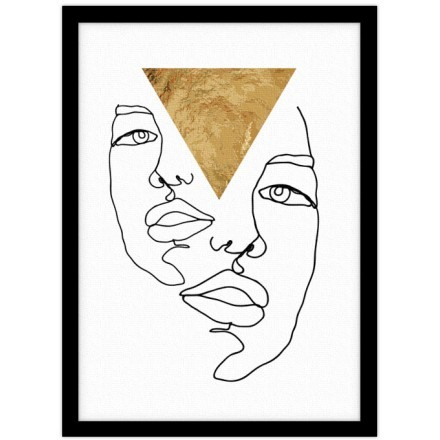 Double face with gold