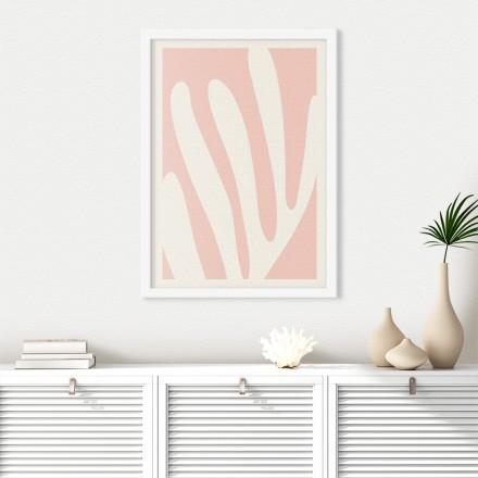 Λευκό λουλούδι στο ροζ φόντο
