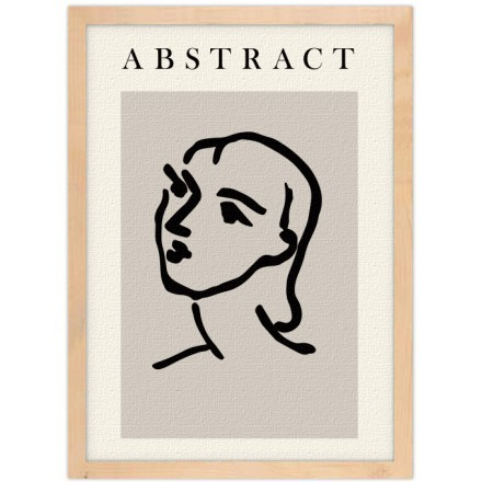 Abstract outline face