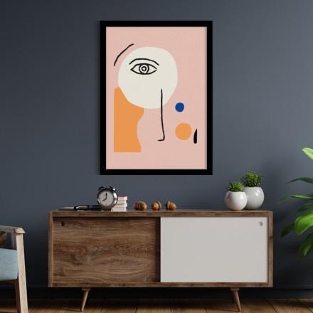 Μάτι σε ροζ σύνθεση