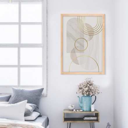 White & gold paint