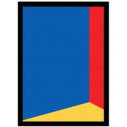Blue, red & yellow
