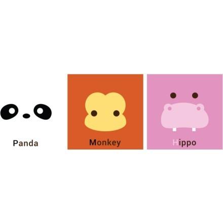 Panda Monkey Hippo