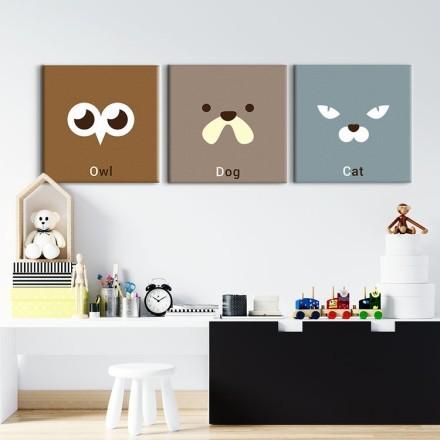 Owl Dog Cat