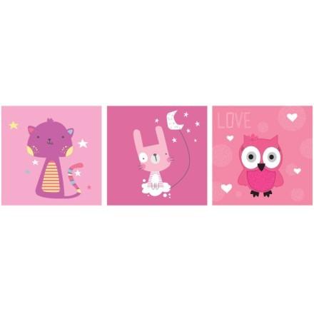 Ροζ Χαριτωμένα Ζωάκια