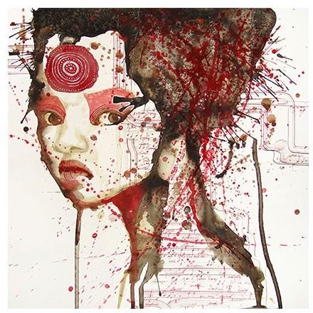 Κόκκινο Πορτρέτο κοπέλας