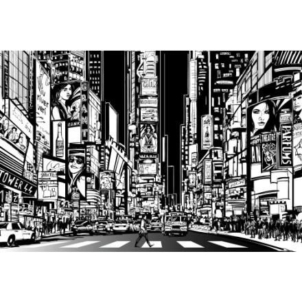 Ασπρόμαυρο κόμικς Νέα Υόρκη