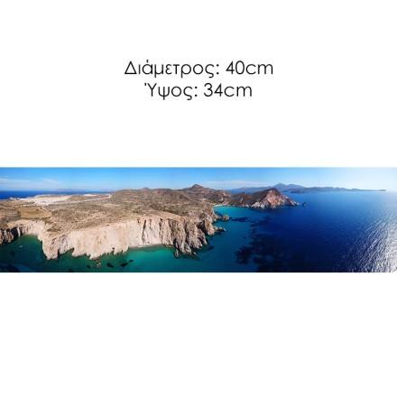 Ηφαιστειακής τυρκουάζ νερά της Πλατεϊάς, Μήλος