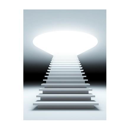 Μια 3D απεικόνιση μιας σκάλας για το μέλλον